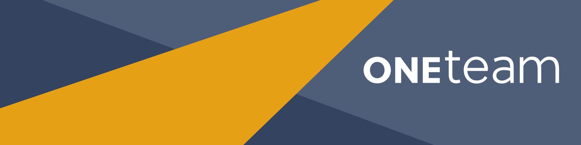 OneTeam blue banner